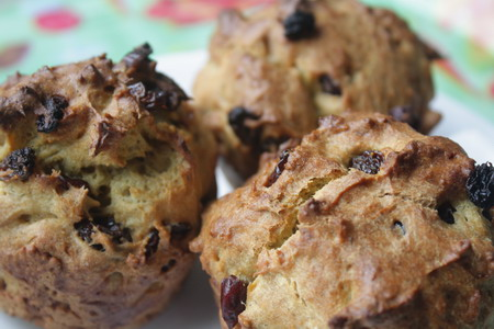 Muffin with chickpea, rice and tapioca flours